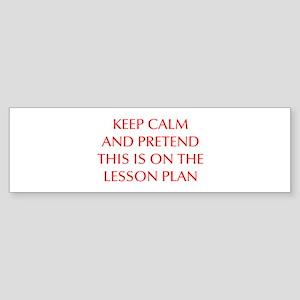 KEEP-CALM-LESSON-PLAN-OPT-RED Bumper Sticker