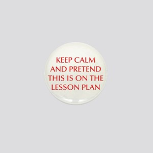 KEEP-CALM-LESSON-PLAN-OPT-RED Mini Button