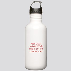 KEEP-CALM-LESSON-PLAN-OPT-RED Water Bottle