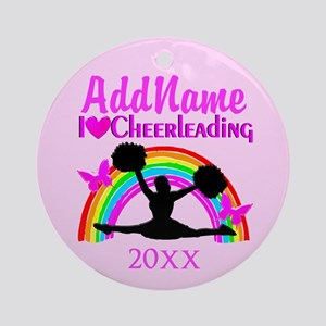 LIVE TO CHEER Ornament (Round)