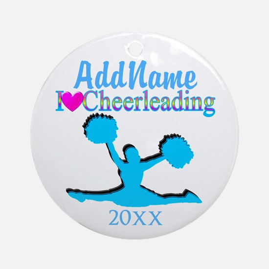 LOVE TO CHEER Ornament (Round)