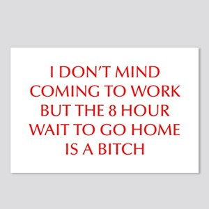 I-DONT-MIND-COMING-OPT-RED Postcards (Package of 8