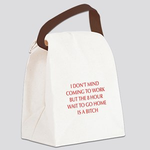 I-DONT-MIND-COMING-OPT-RED Canvas Lunch Bag