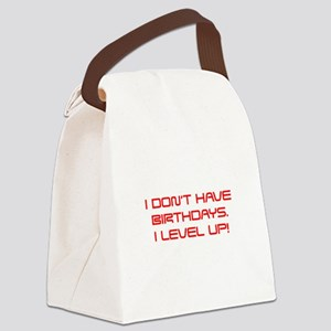 I-DONT-HAVE-BIRTHDAYS-saved-red Canvas Lunch Bag