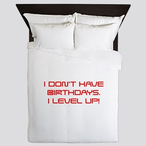 I-DONT-HAVE-BIRTHDAYS-saved-red Queen Duvet