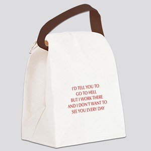 GO-TO-HELL-OPT-RED Canvas Lunch Bag