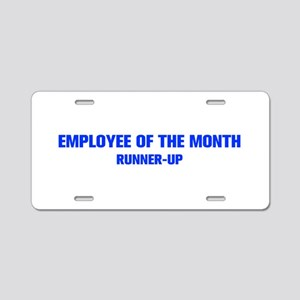 EMPLOYEE-OF-THE-MONTH-AKZ-BLUE Aluminum License Pl