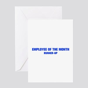 EMPLOYEE OF THE MONTH AKZ BLUE Greeting Card