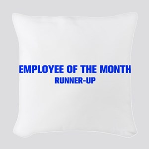 EMPLOYEE-OF-THE-MONTH-AKZ-BLUE Woven Throw Pillow