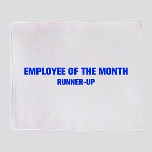 EMPLOYEE-OF-THE-MONTH-AKZ-BLUE Throw Blanket