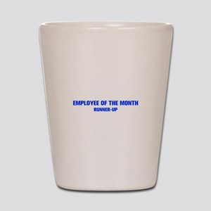 EMPLOYEE-OF-THE-MONTH-AKZ-BLUE Shot Glass