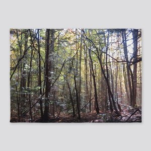 forest scenery 5'x7'Area Rug
