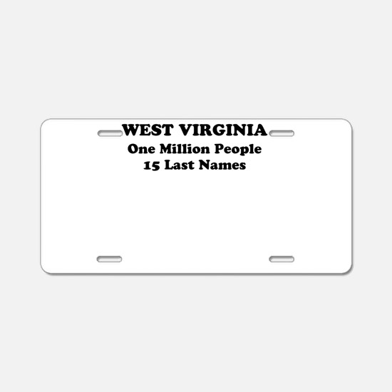 West Virginia one million people 15 last names Alu