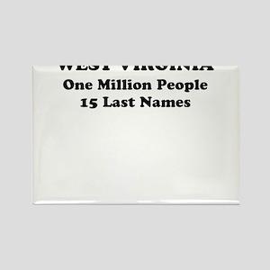 West Virginia one million people 15 last names Rec