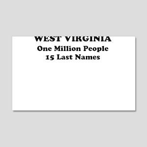 West Virginia one million people 15 last names Wal