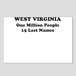 West Virginia one million people 15 last names Pos