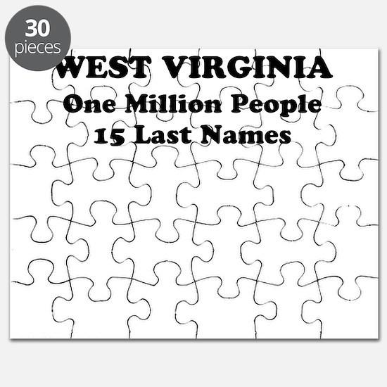 West Virginia one million people 15 last names Puz