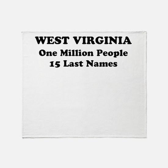 West Virginia one million people 15 last names Thr