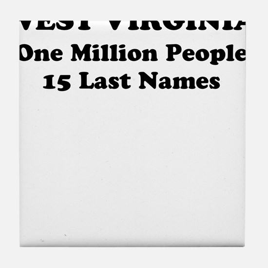 West Virginia one million people 15 last names Til