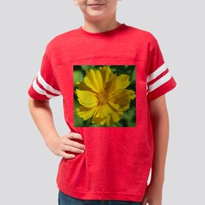 yellow flower tile Youth Football Shirt