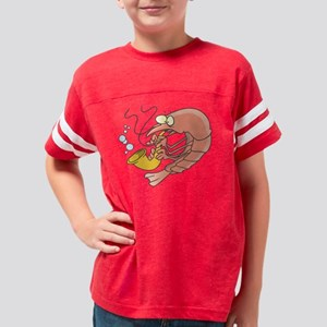 silly shrimp playing sax Youth Football Shirt