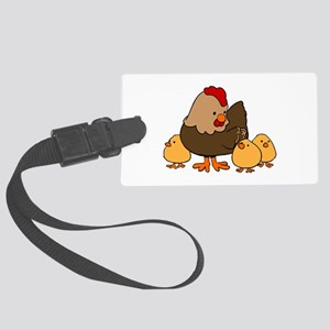 Chicken with Baby Chicks Luggage Tag