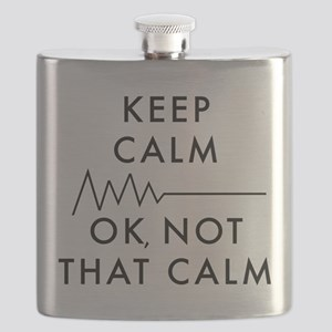 Keep Calm Okay Not That Calm Flask