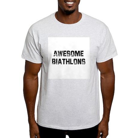 Awesome Biathlons Ash Grey T-Shirt