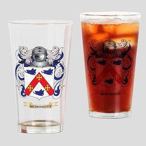 McDermott Coat of Arms - Family Crest Drinking Gla