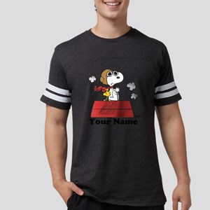 Peanuts Flying Ace Personalize Mens Football Shirt