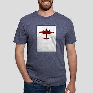 b-17-red Mens Tri-blend T-Shirt