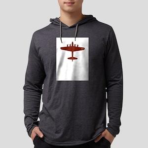 b-17-red Mens Hooded Shirt