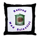 Retired Mad Scientist Throw Pillow