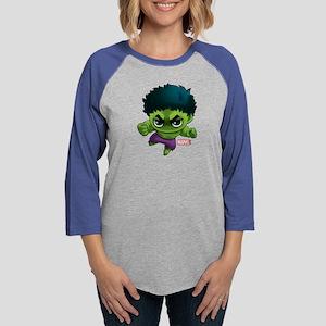 Chibi Hulk Womens Baseball Tee