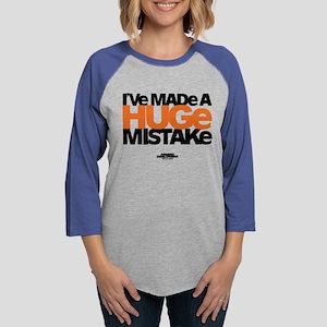 Huge Mistake Light Womens Baseball Tee