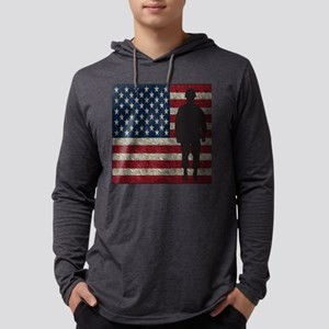 USFlag Soldier Mens Hooded Shirt