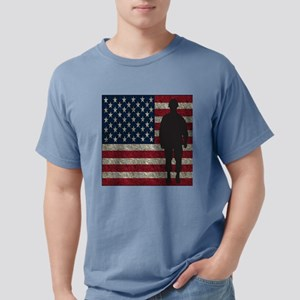 USFlag Soldier Mens Comfort Colors Shirt
