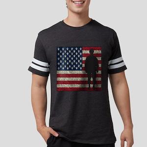 USFlag Soldier Mens Football Shirt