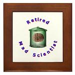 Retired Mad Scientist Framed Tile