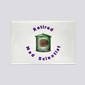 Retired Mad Scientist Rectangle Magnet