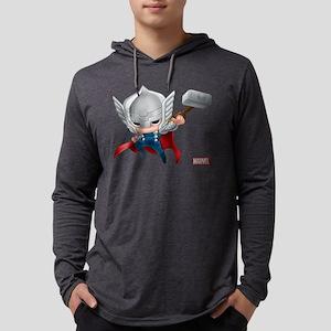 Thor Chibi 2 Mens Hooded Shirt