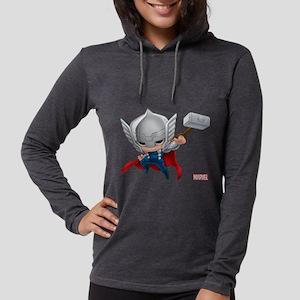 Thor Chibi 2 Womens Hooded Shirt