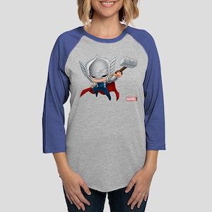 Thor Chibi 2 Womens Baseball Tee