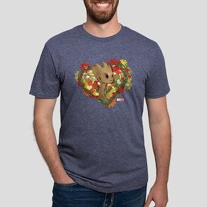 GOTG Baby Groot Valentine Mens Tri-blend T-Shirt