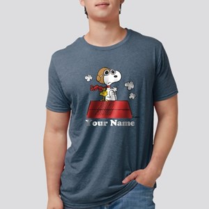 Peanuts Flying Ace Personal Mens Tri-blend T-Shirt