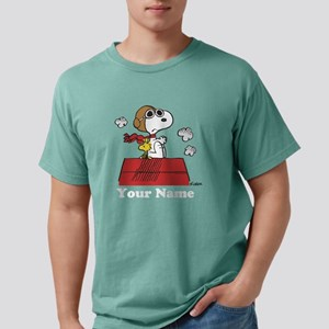 Peanuts Flying Ace Perso Mens Comfort Colors Shirt