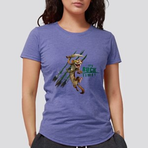 It's Buck Time Light Womens Tri-blend T-Shirt