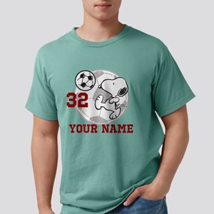 Snoopy Soccer Personaliz Mens Comfort Colors Shirt