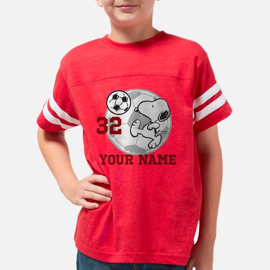 Snoopy Soccer Personalized Youth Football Shirt