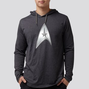 StarTrek Command Silver Signia C Mens Hooded Shirt
